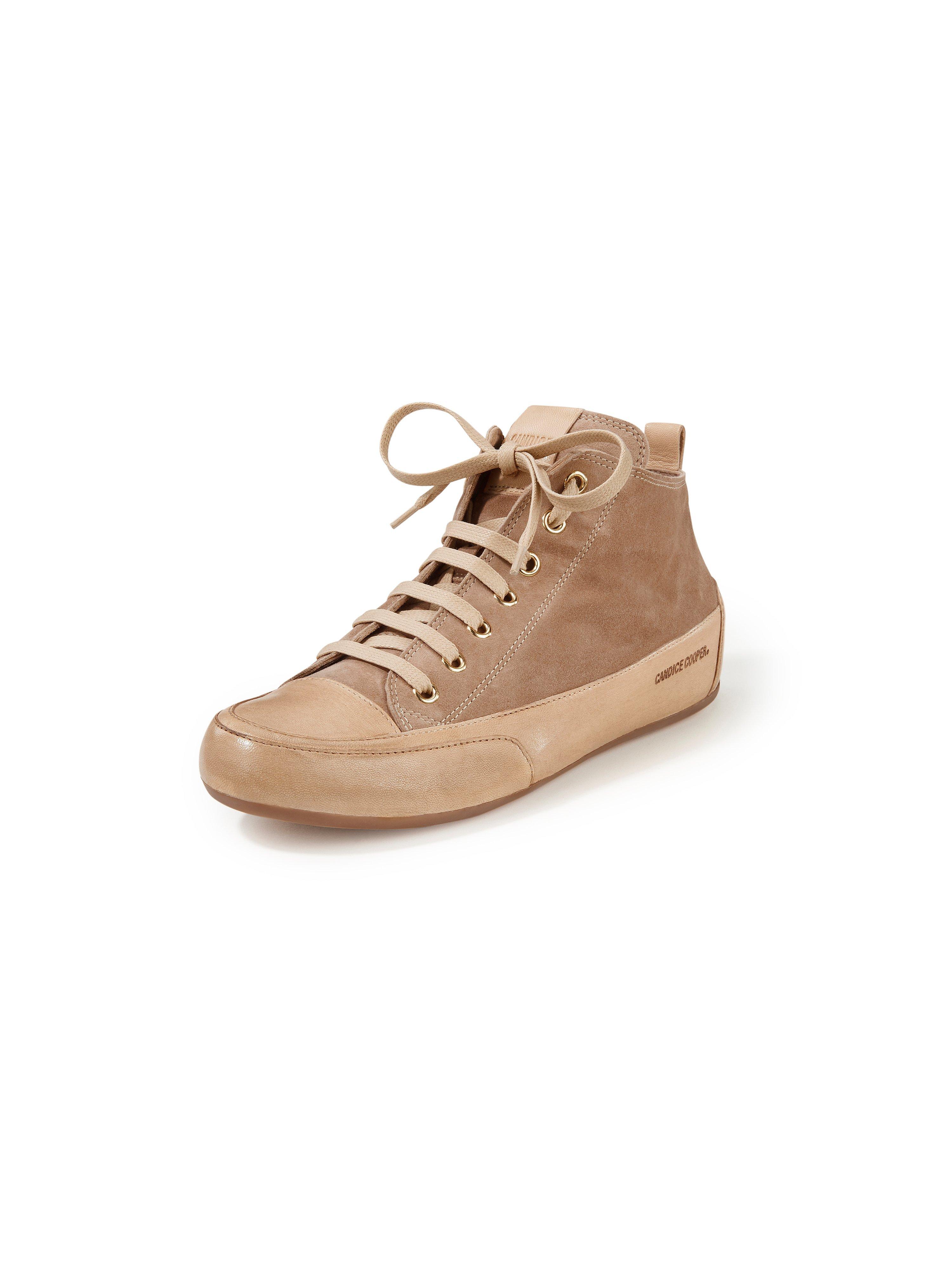 sneakers Mid van geitensuèdeleer Van Candice Cooper beige