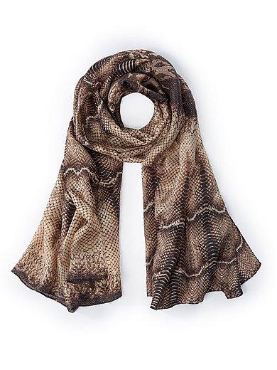 Emilia Lay - Vävd scarf med ormskinnsprint