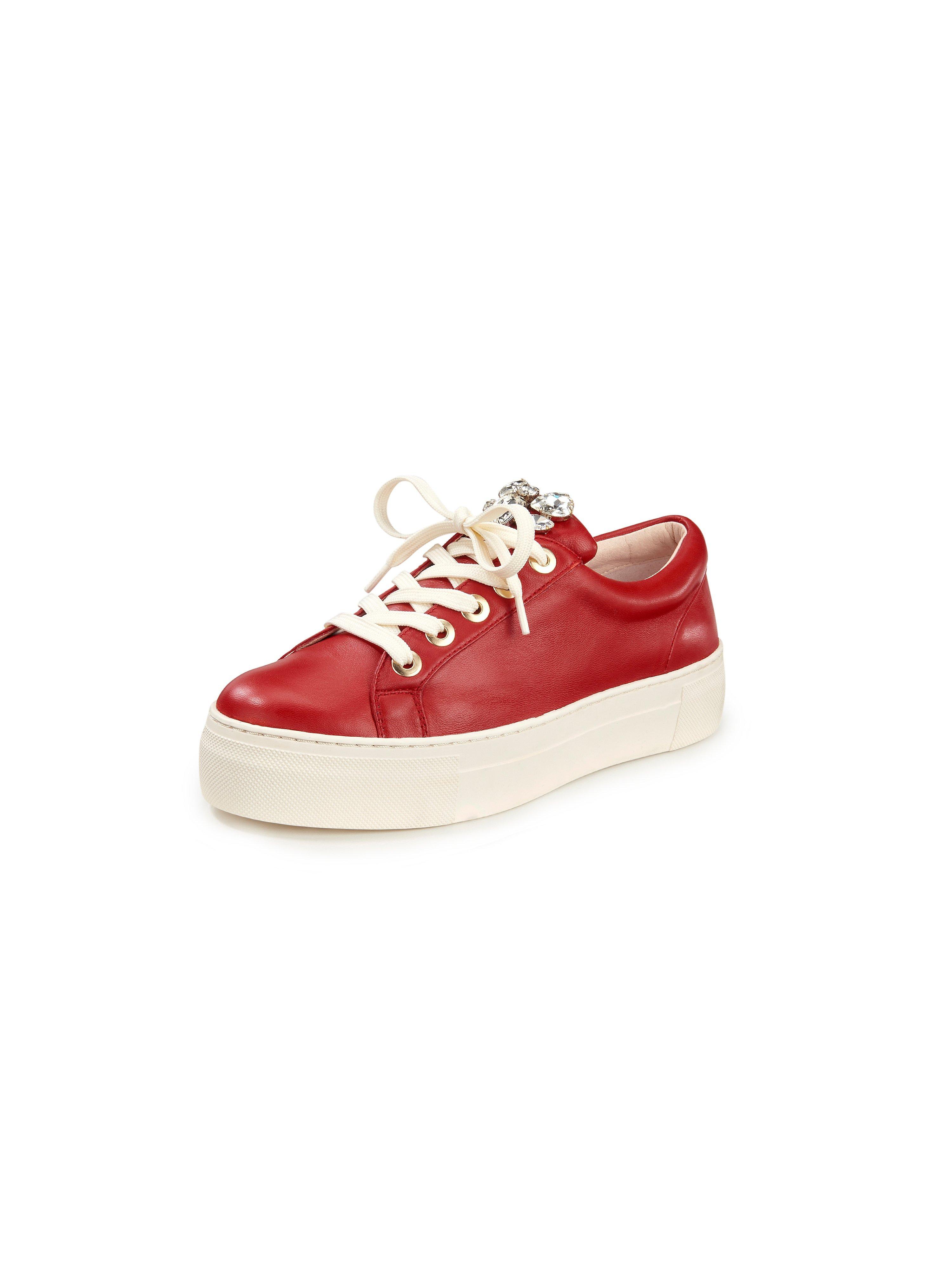 Sneakers van schaapsnappaleer Van Tizian rood