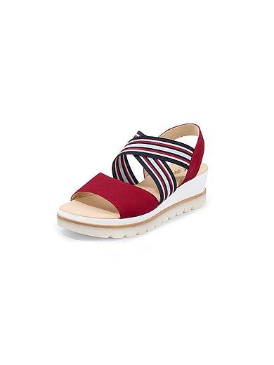 Gabor - Sandaaltjes met sleehak van geitensuèdeleer