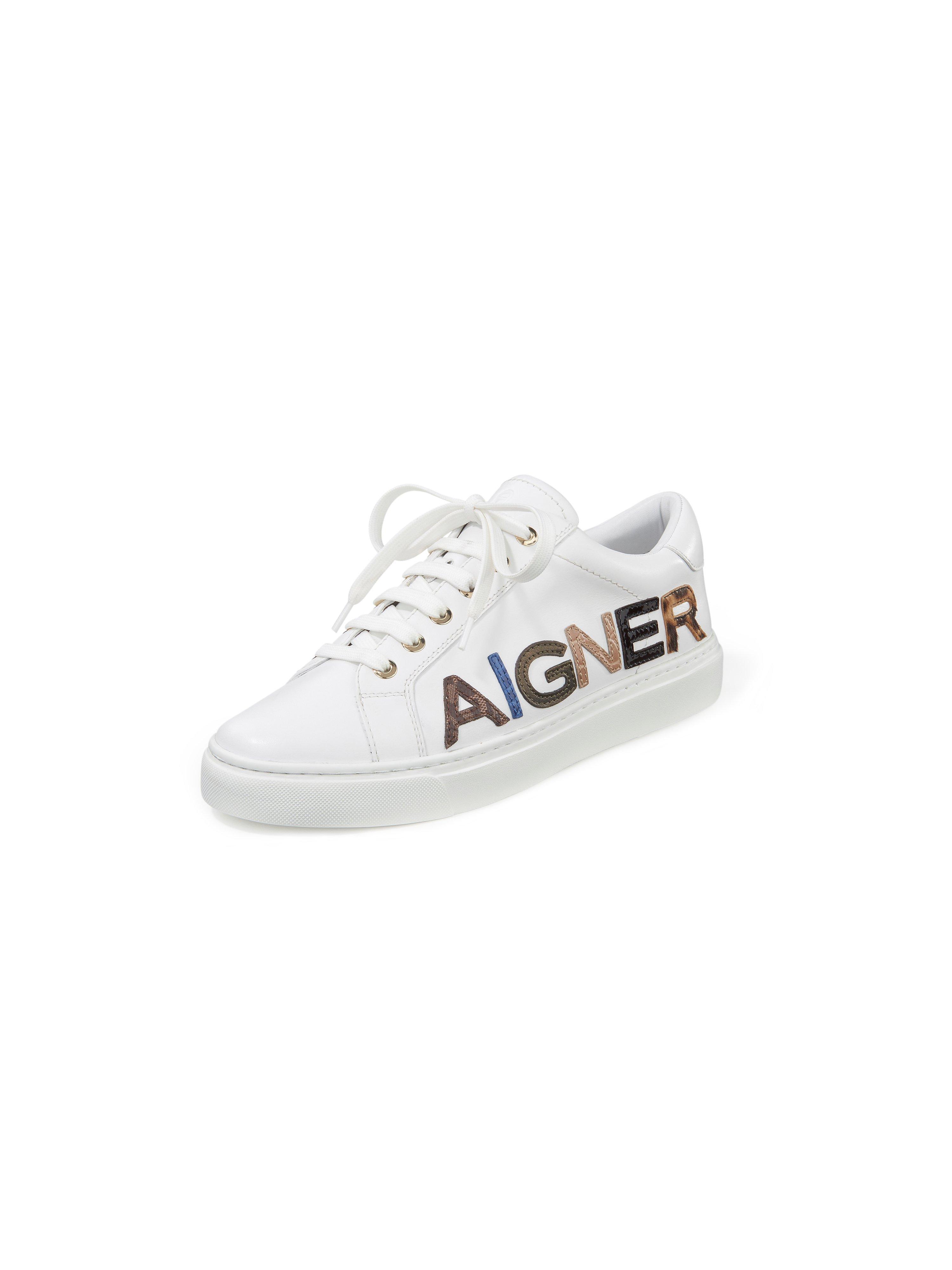 Sneakers Diane van rundnappaleer Van Aigner wit