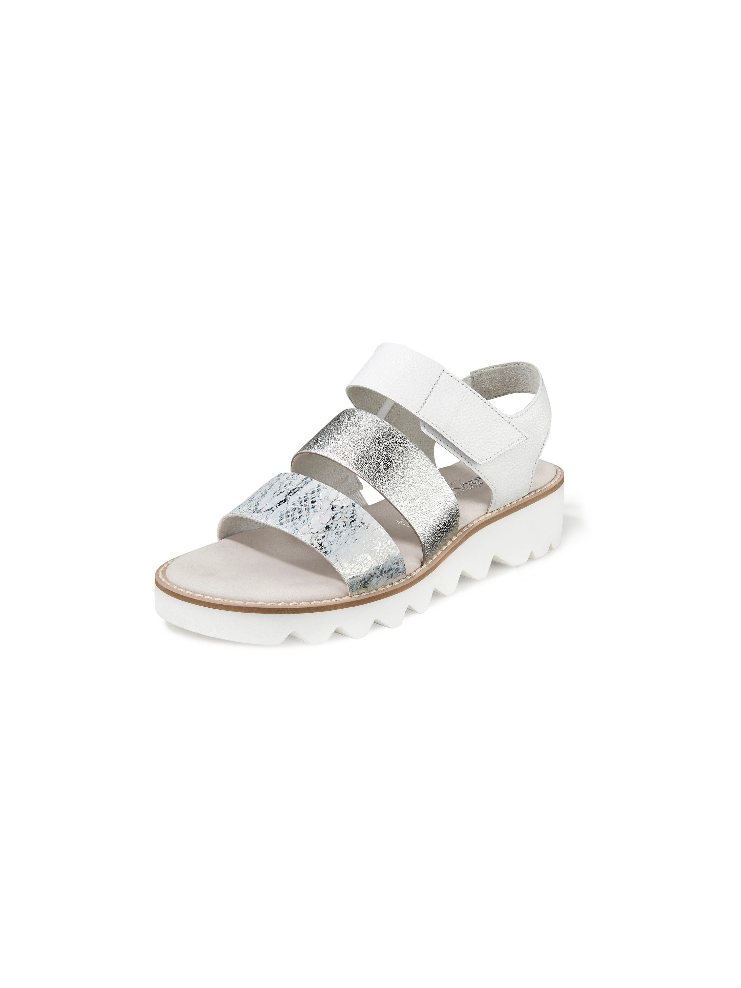 Sandalen van kalfsnappaleer Van Gabor Comfort wit