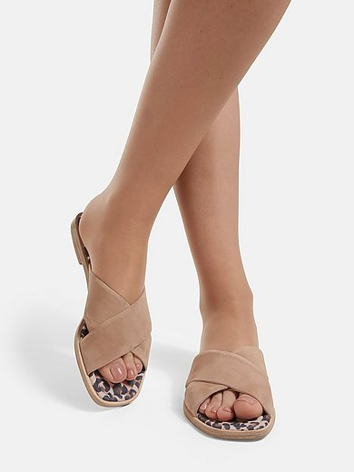 Kennel & Schmenger - Slippers Gift met riempjes van geitensuèdeleer