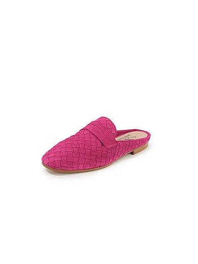 Peter Hahn exquisit - Gevlochten slippers van suèdeleren bandjes