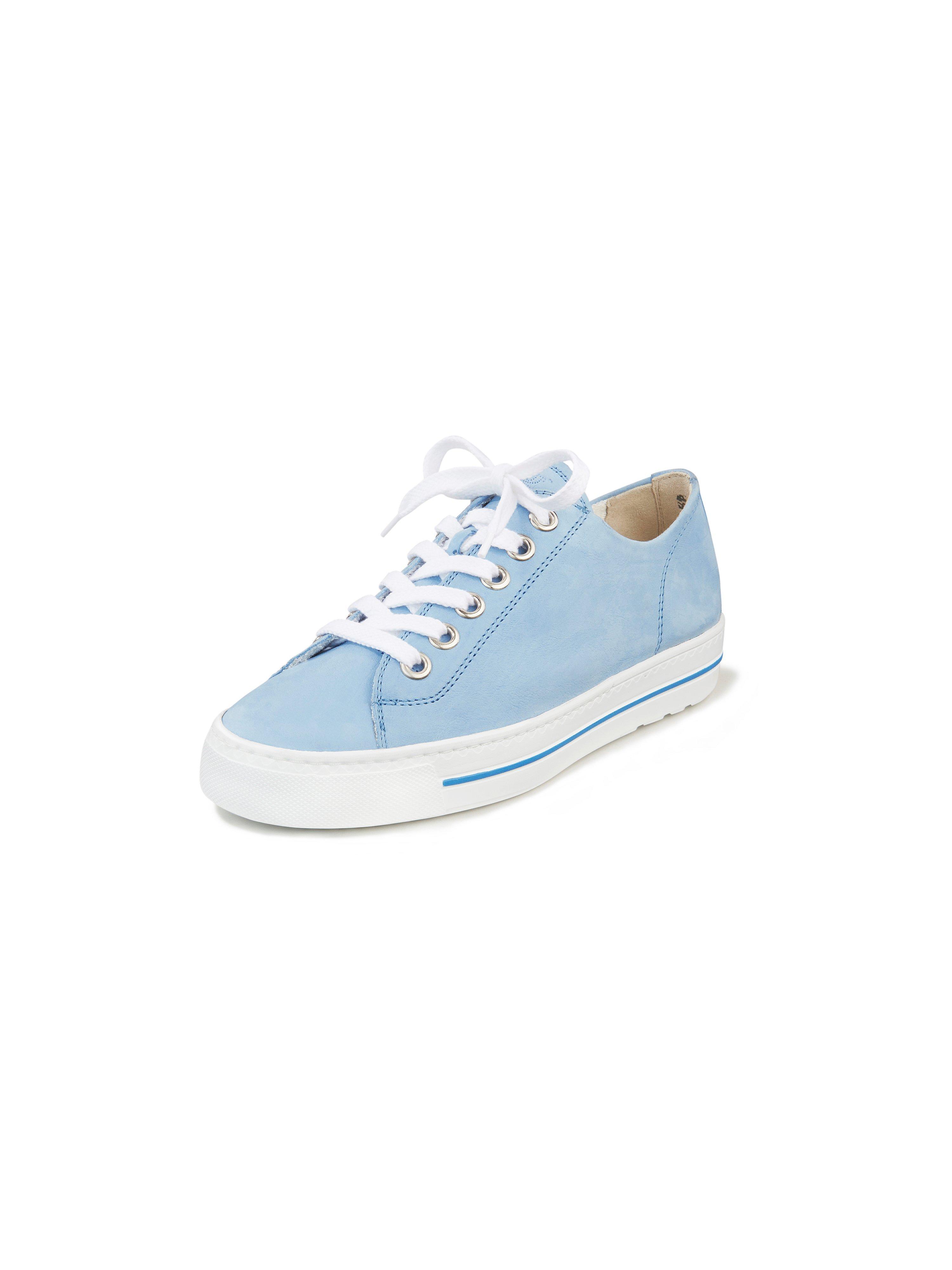 Sneakers van kalfsnubuckleer Van Paul Green blauw