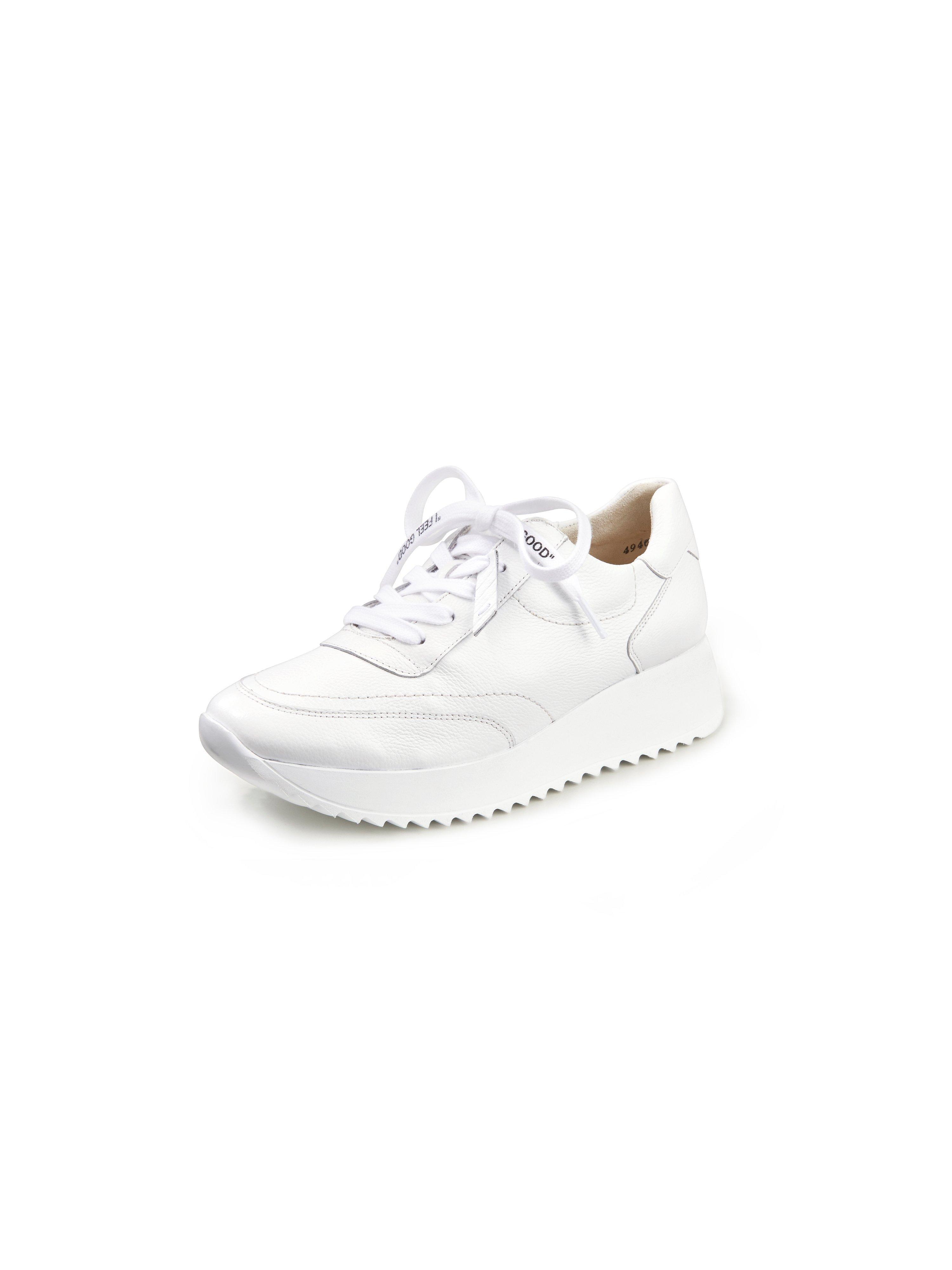 Sneakers van superzacht kalfsnappaleer Van Paul Green wit