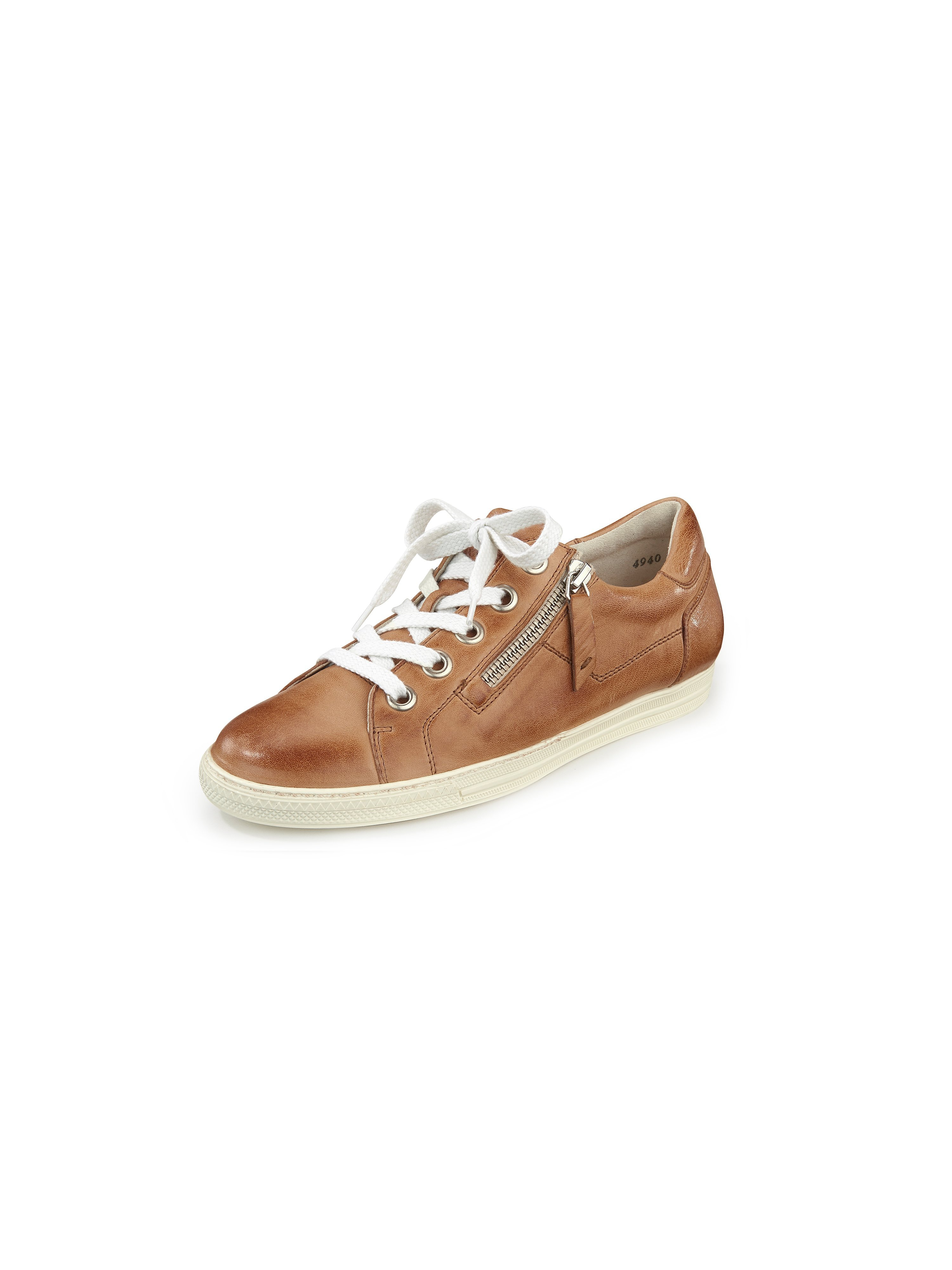 Sneakers van kalfsnappaleer Van Paul Green bruin