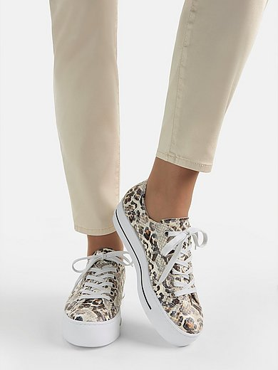 Paul Green - Sneakers van geitenleer met luipaarddessin