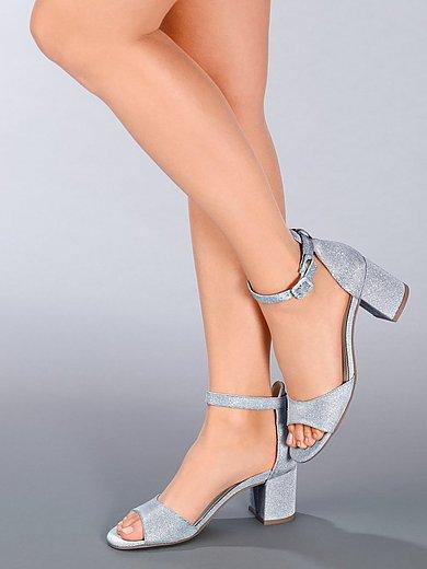 Paul Green - Sandalen van textielmateriaal met glittereffect
