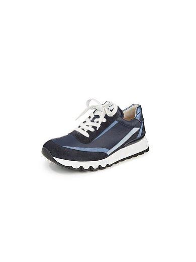 Paul Green - Sneakers van geitensuède- en kalfsnappaleer