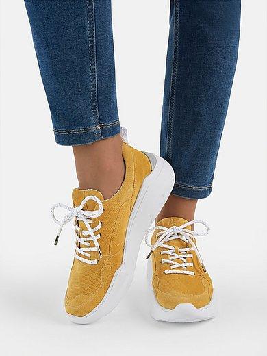 Paul Green - Sneakers van kalfssuèdeleer met fijne perforatie
