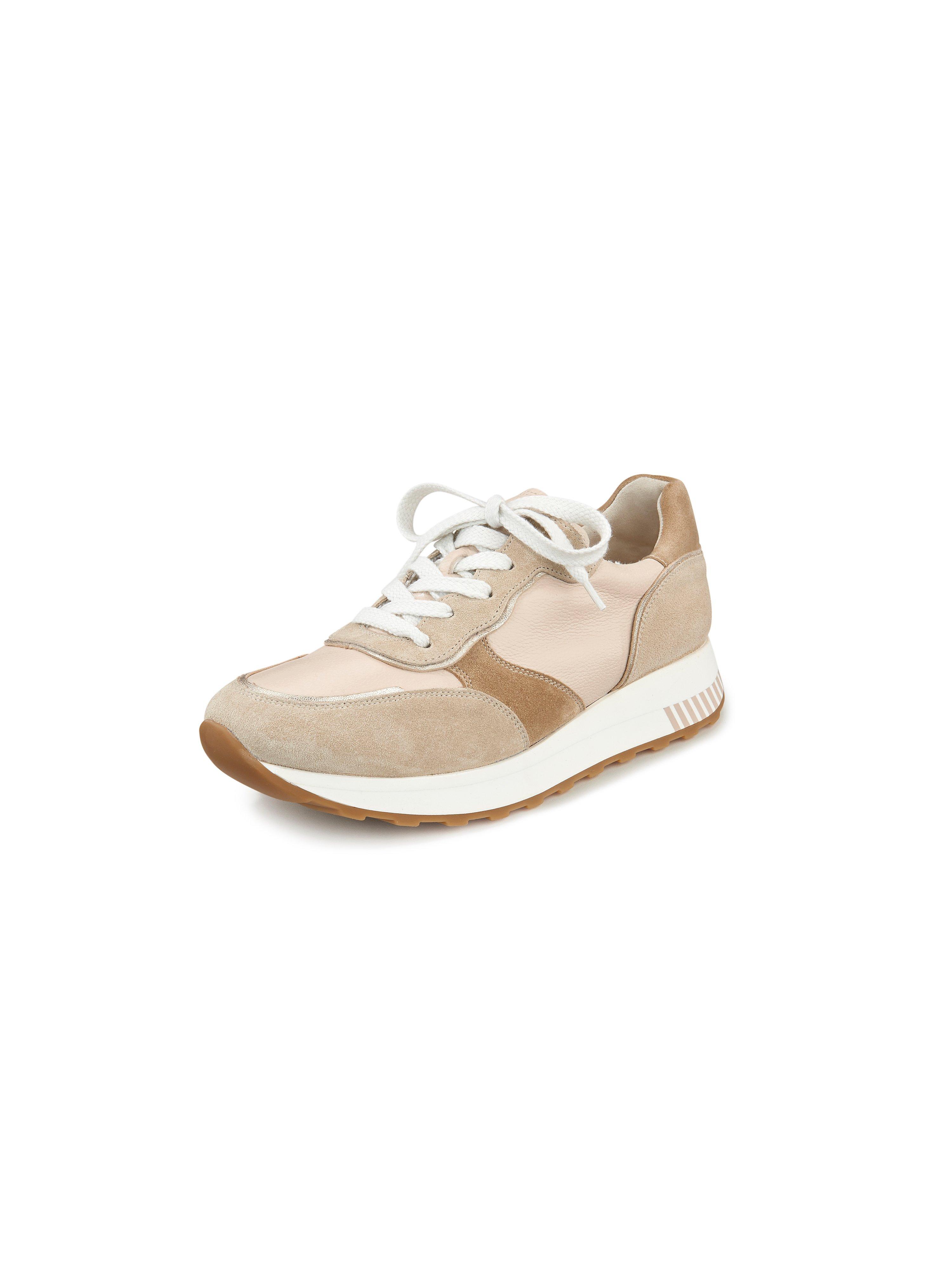 Sneakers van lamsnappa en kalfssuèdeleer Van Paul Green beige