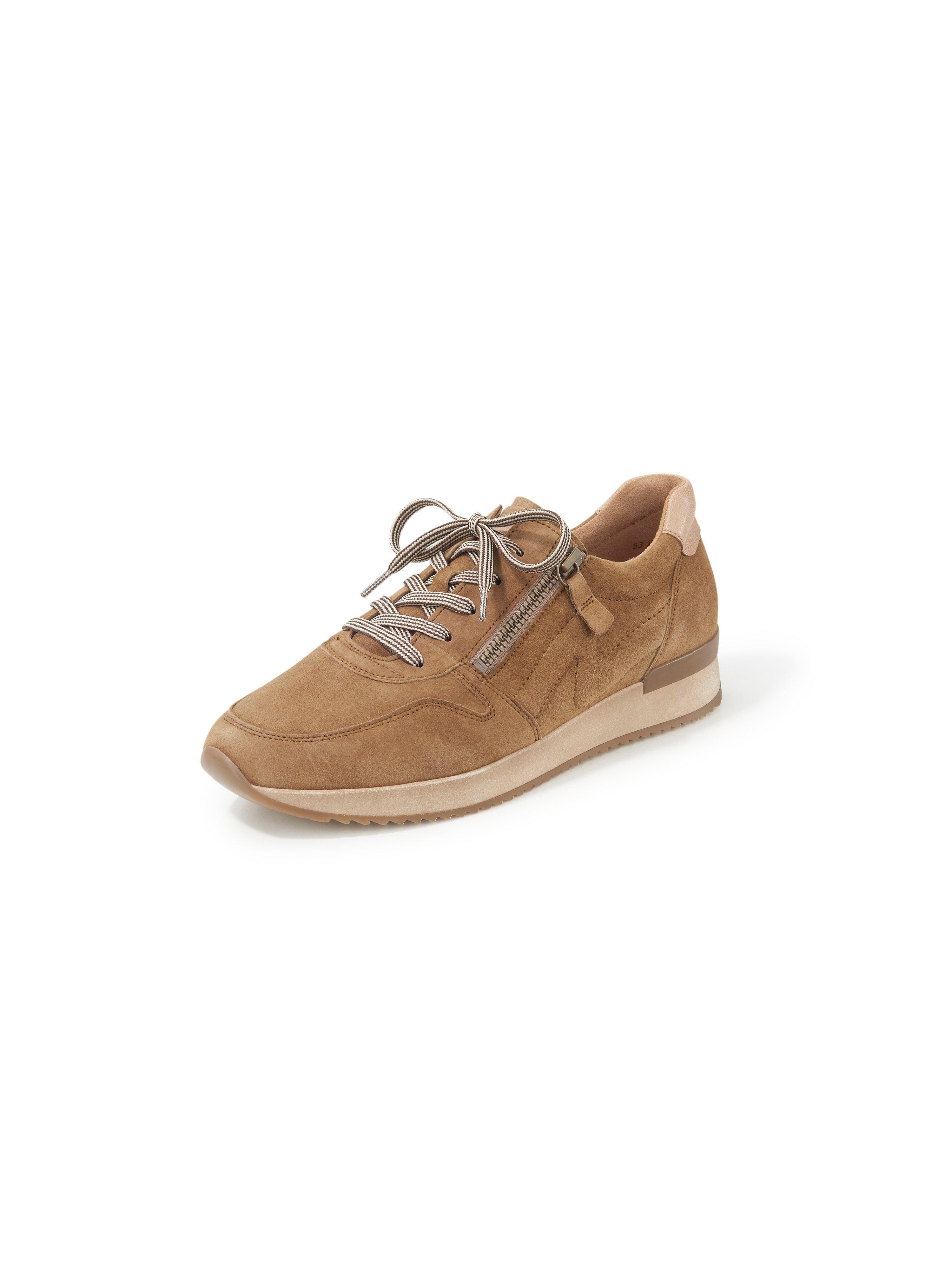 Sneakers van geitensuèdeleer Van Gabor bruin