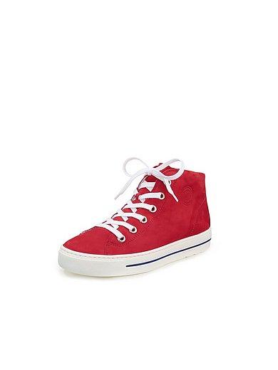 Paul Green - Enkelhoge sneakers van kalfsnubuckleer