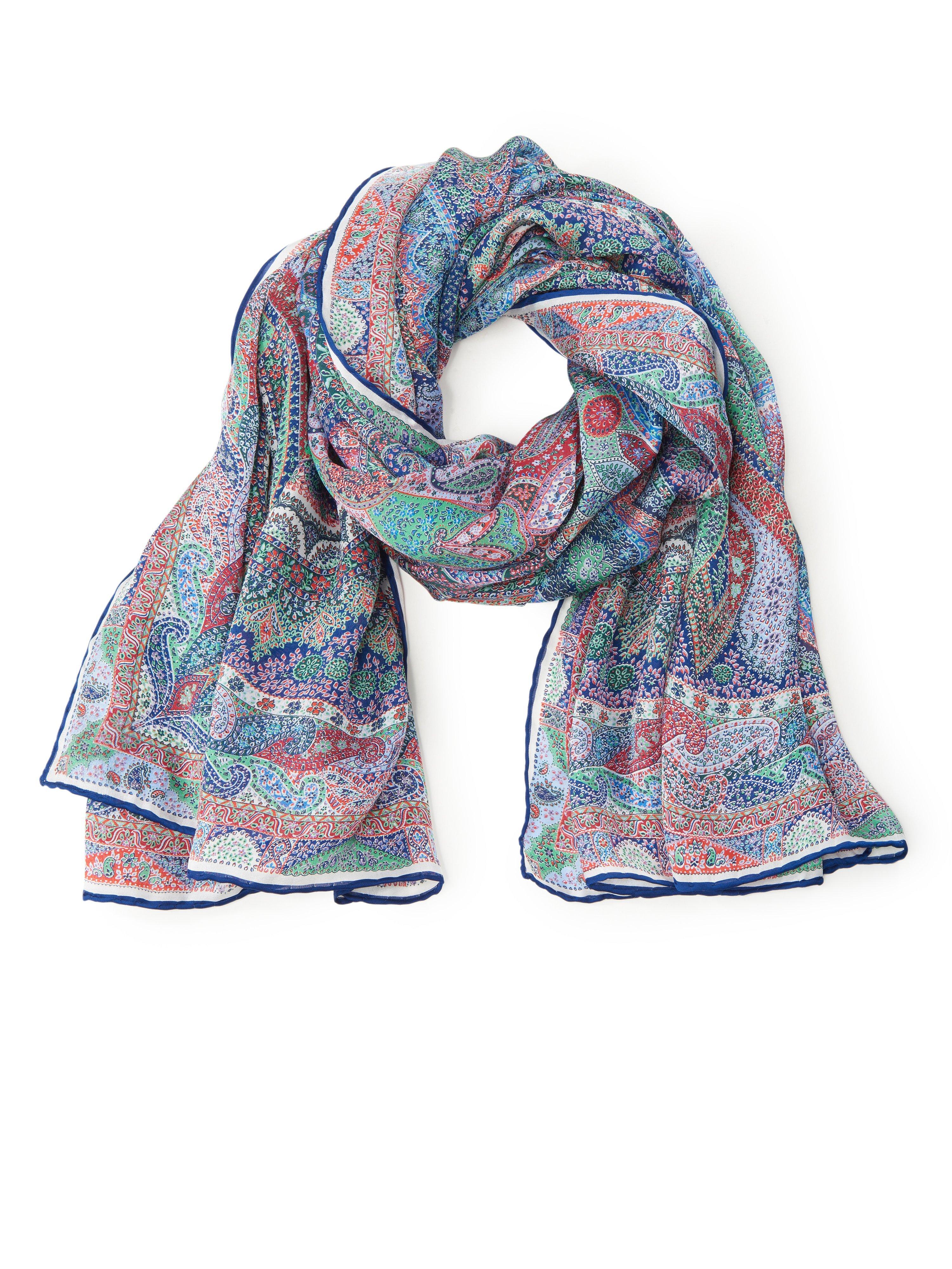 Tørklæde i 100% silke Fra Roeckl multicolor