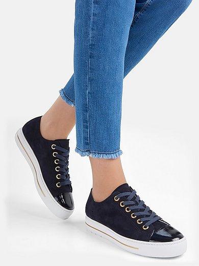 Paul Green - Sneakers van leer met frottévoering