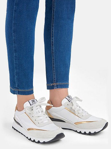 Paul Green - Sneakers van kalfsnappaleer met frottévoering