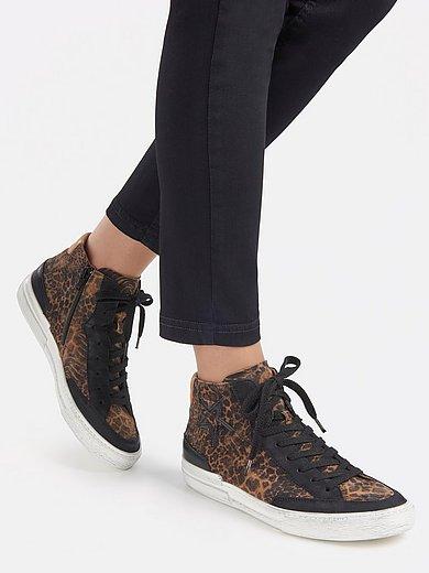Paul Green - Enkelhoge sneakers van kalfssuèdeleer