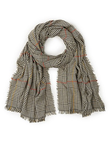Anna Aura - Woven scarf with check pattern