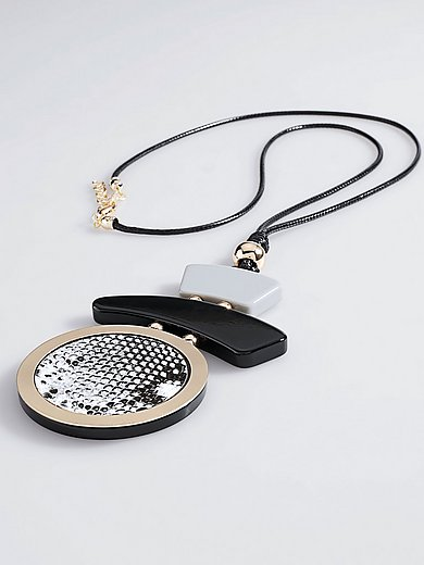 Emilia Lay - Necklace comprising leather cord and pendant
