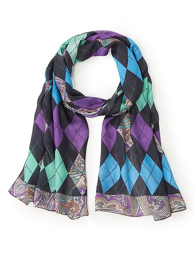 Anna Aura - Woven scarf with paisley motif
