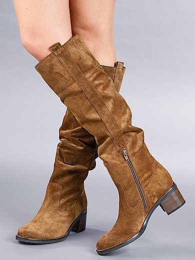 Gabor - Laarzen met lange schacht van zacht kalfssuèdeleer