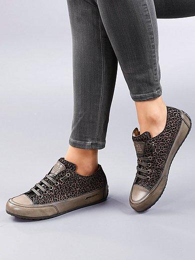 Candice Cooper - Sneakers Rock van kalfssuèdeleer met flocklaag