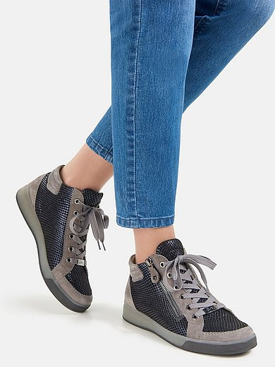 ARA - Enkelhoge geitensuèdeleren sneakers HighSoft Rom