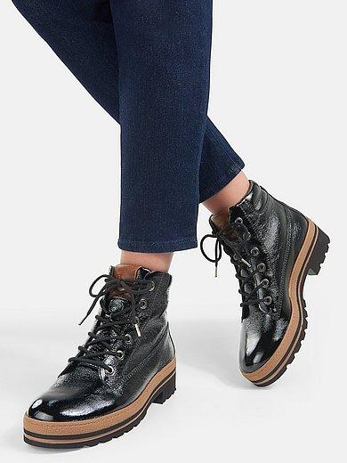 Paul Green - Hoge veterschoenen van gekreukt kalfslakleer