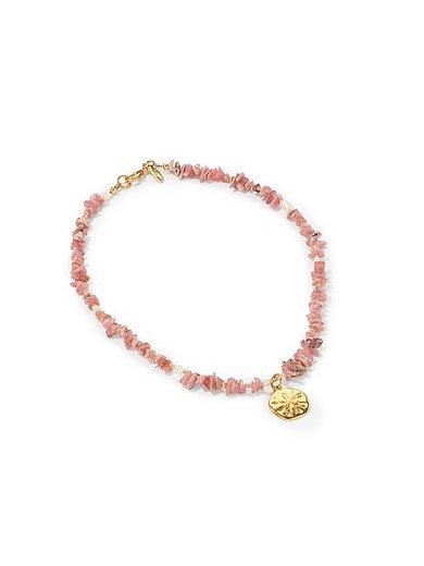 Juwelenkind - Kette aus Rhodonit-Zuchtperlen