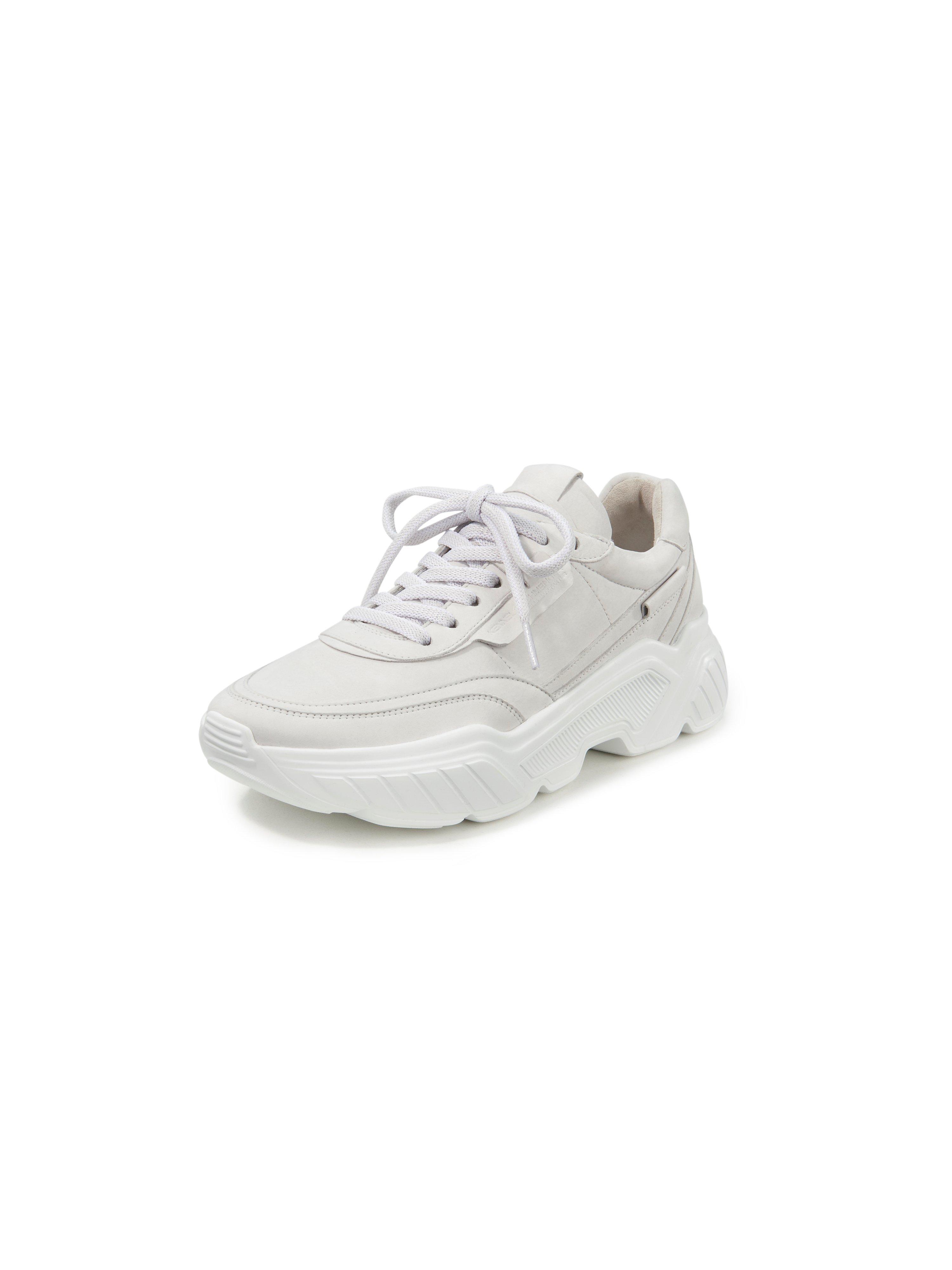 Sneakers Boom kalfsnubuckleer Van Kennel & Schmenger beige