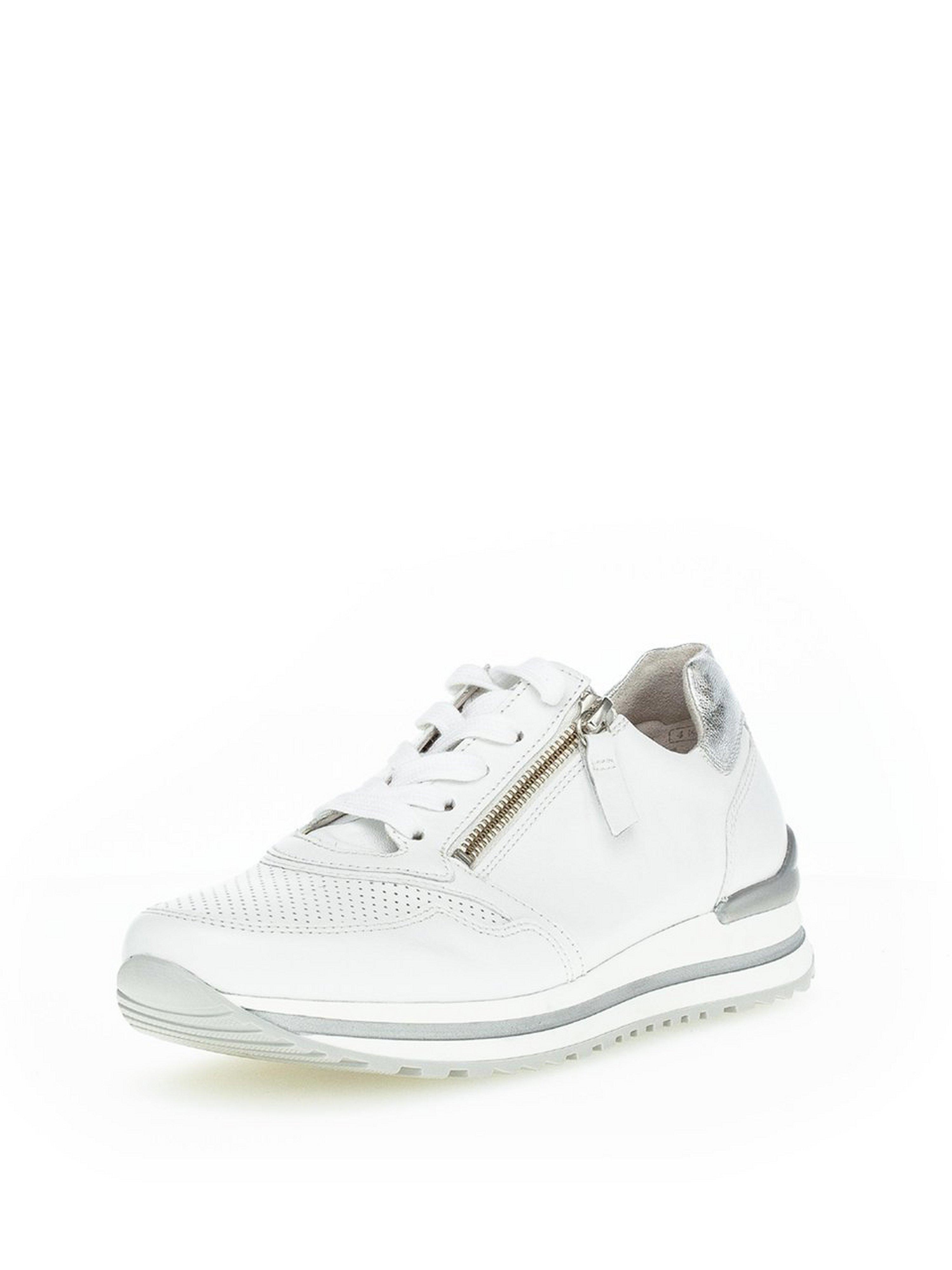 Soft kidskin suede sneakers Gabor Comfort white