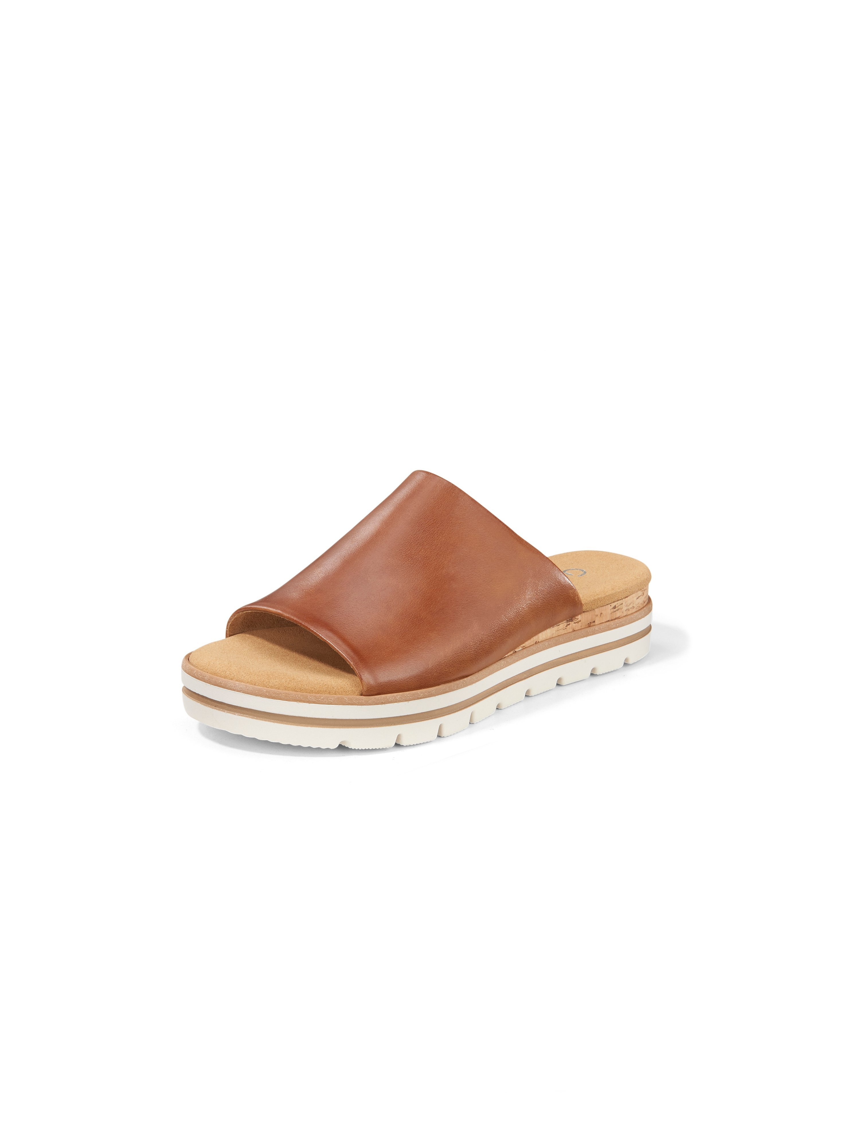 Calf nappa leather platform sandals Gabor Comfort brown