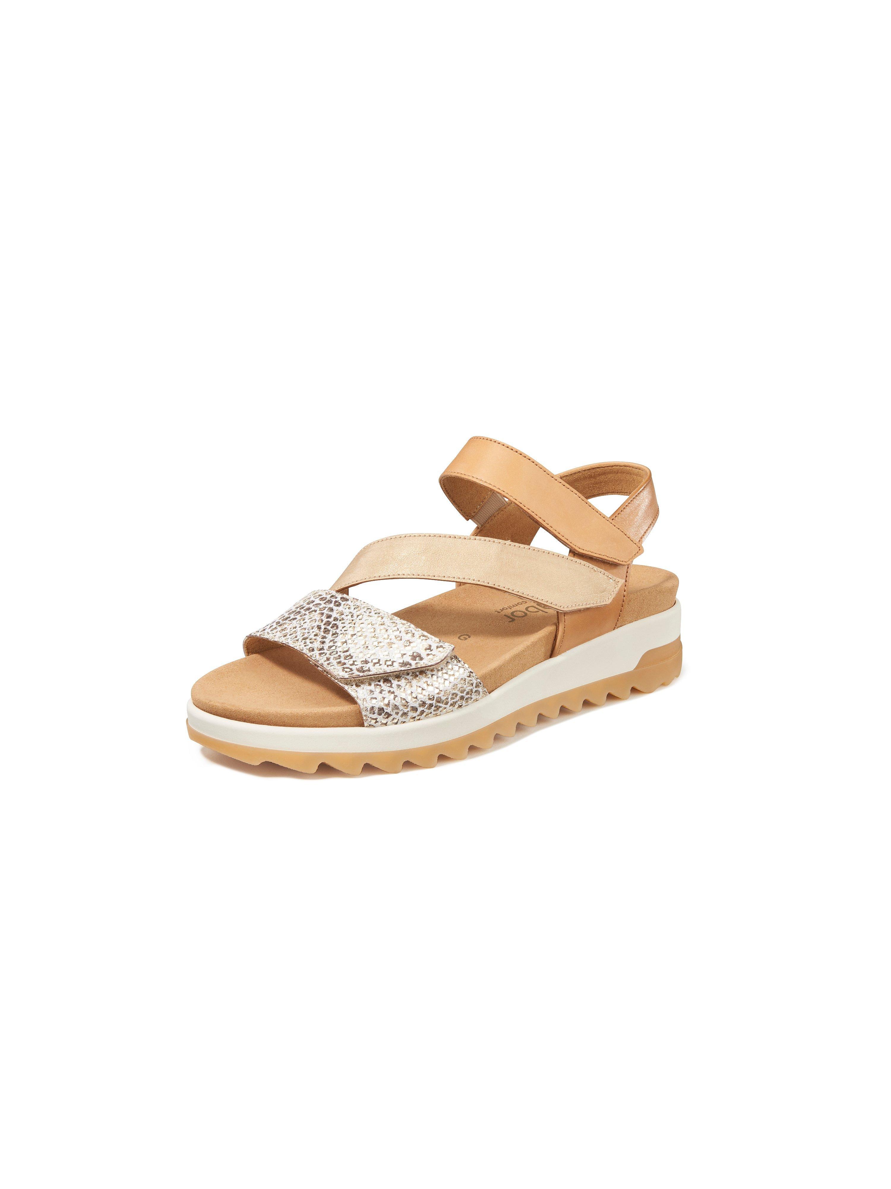 Sandals hook-and-loop straps Gabor Comfort brown