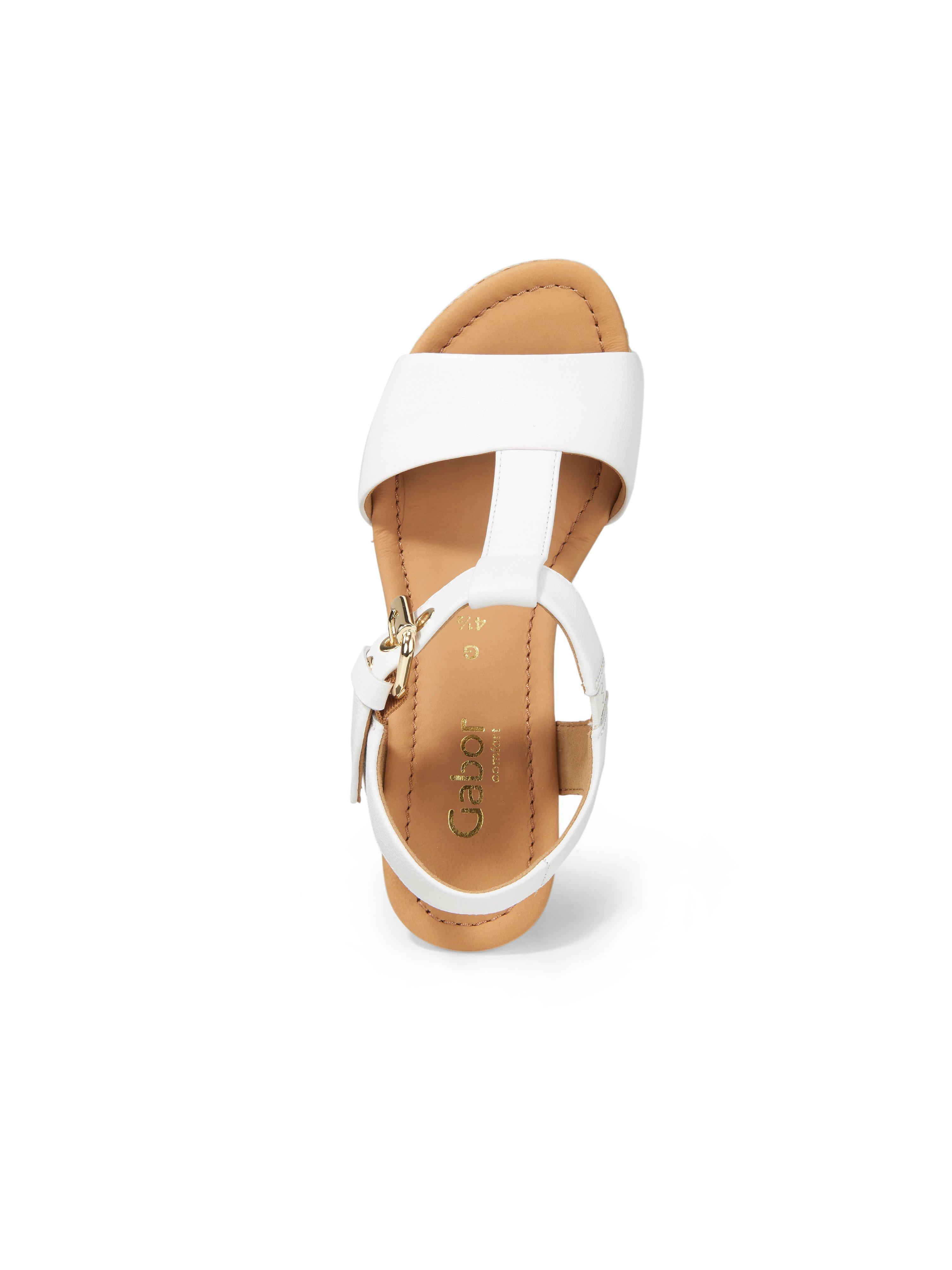 Sandaler kilehæl Fra Gabor Comfort hvid