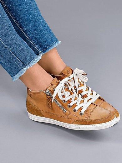Paul Green - Enkelhoge sneakers van kalfsnappa- en suèdeleer