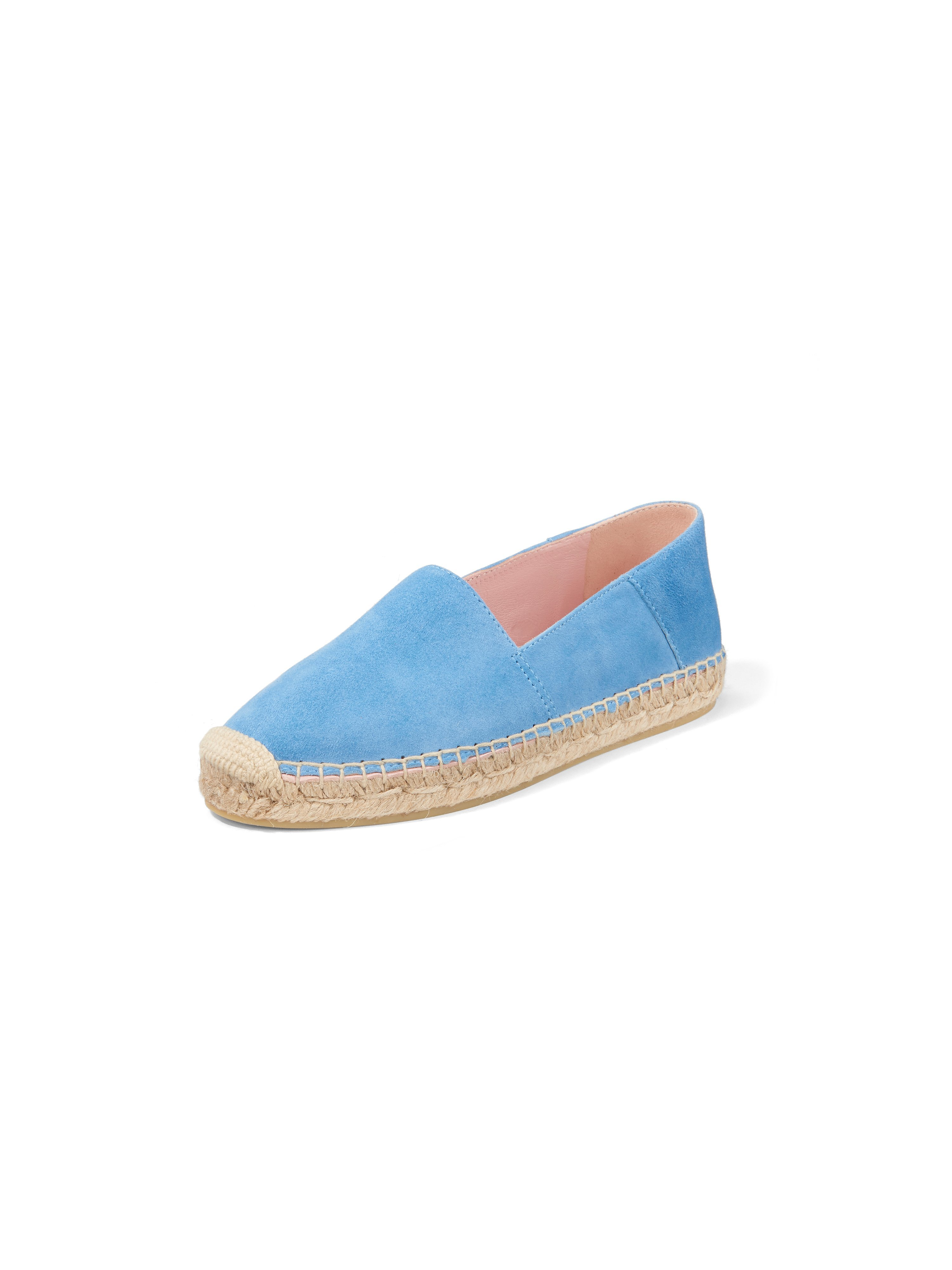 Espadrilles geitensuèdeleer Van Pretty Ballerinas blauw
