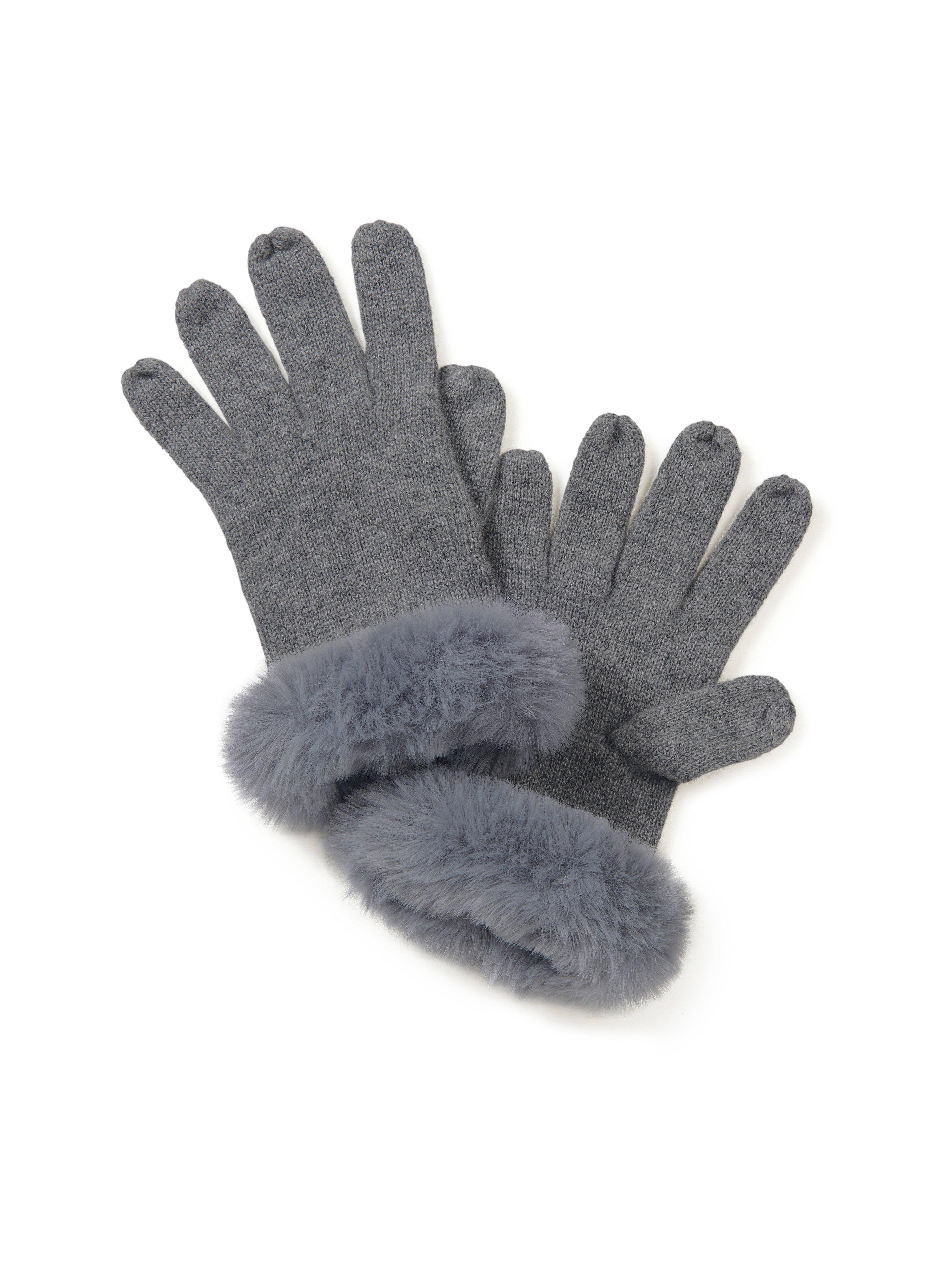 Handschoenen Van Peter Hahn Cashmere grijs