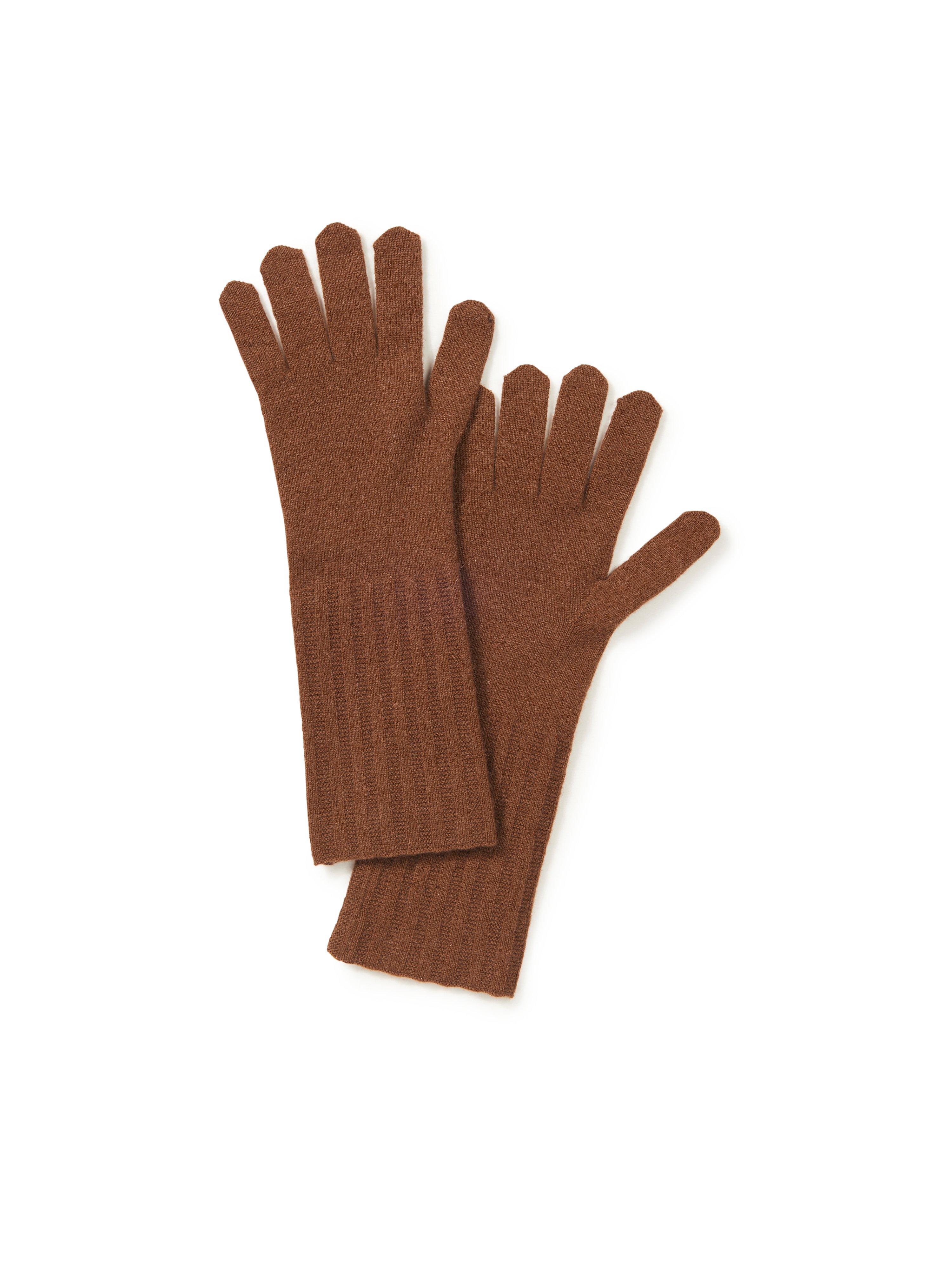Handschoenen 100% kasjmier Van Peter Hahn Cashmere bruin