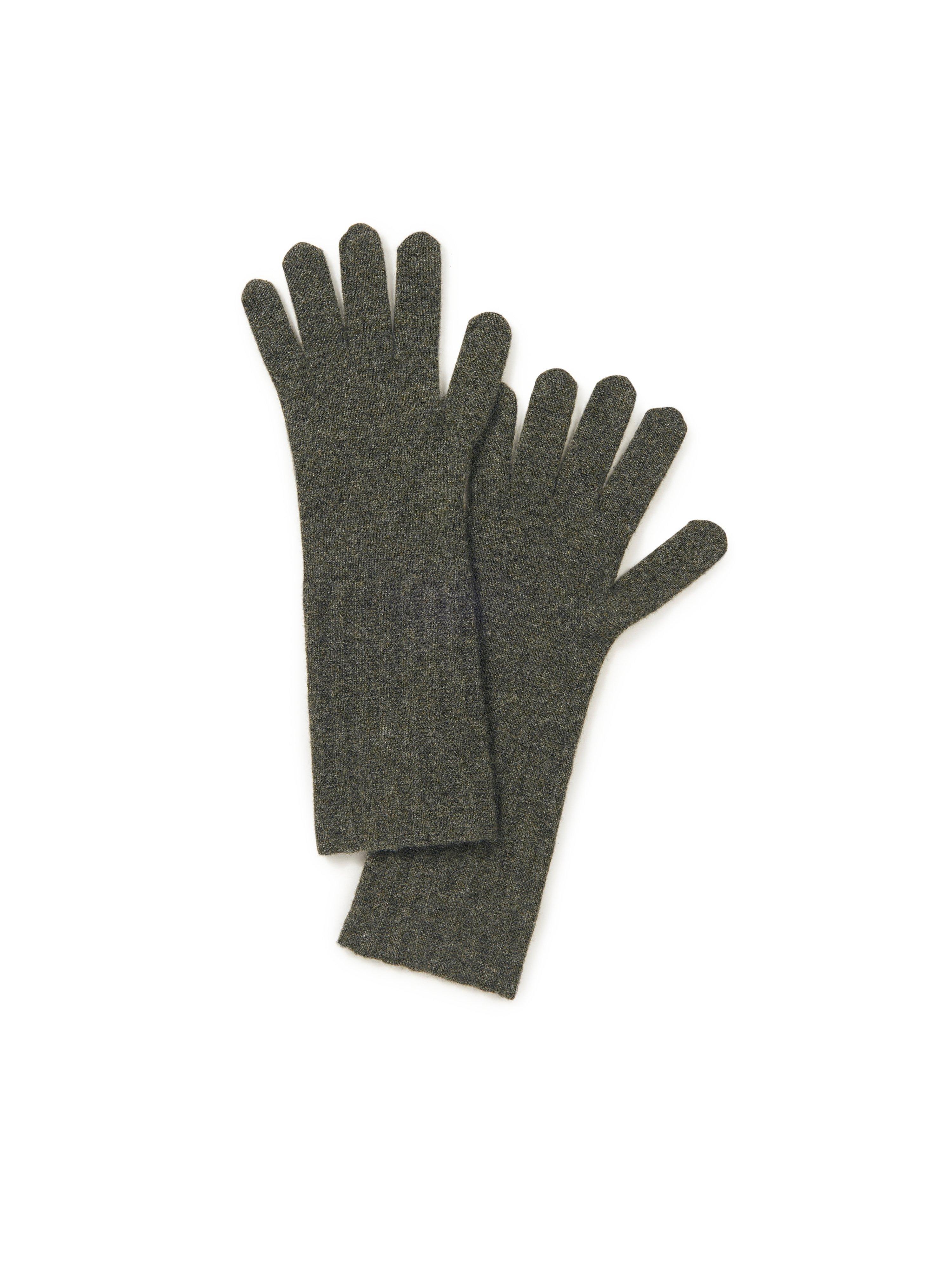 Handschoenen 100% kasjmier Van Peter Hahn Cashmere groen