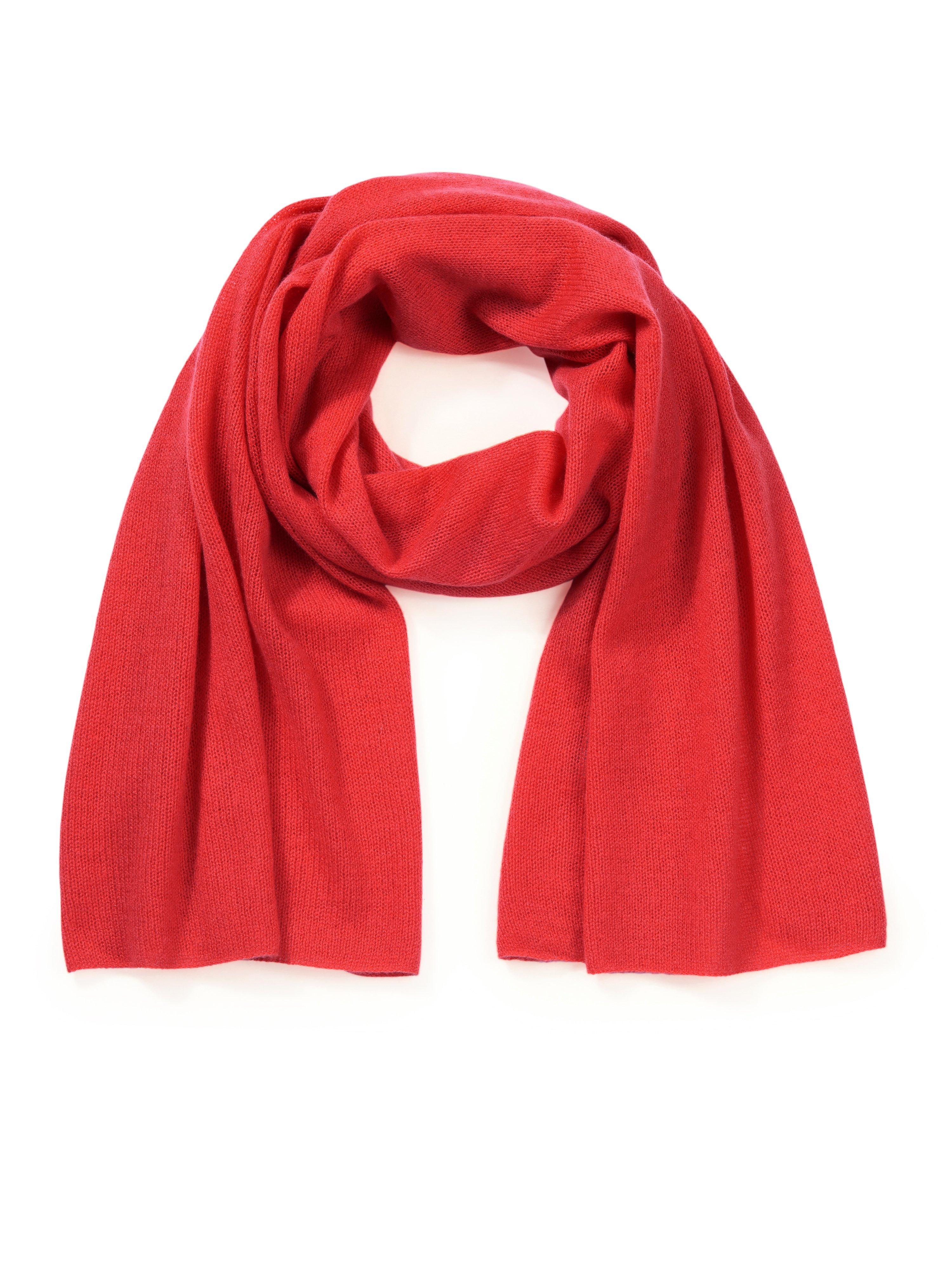 Sjaal 100% kasjmier Van Peter Hahn Cashmere rood