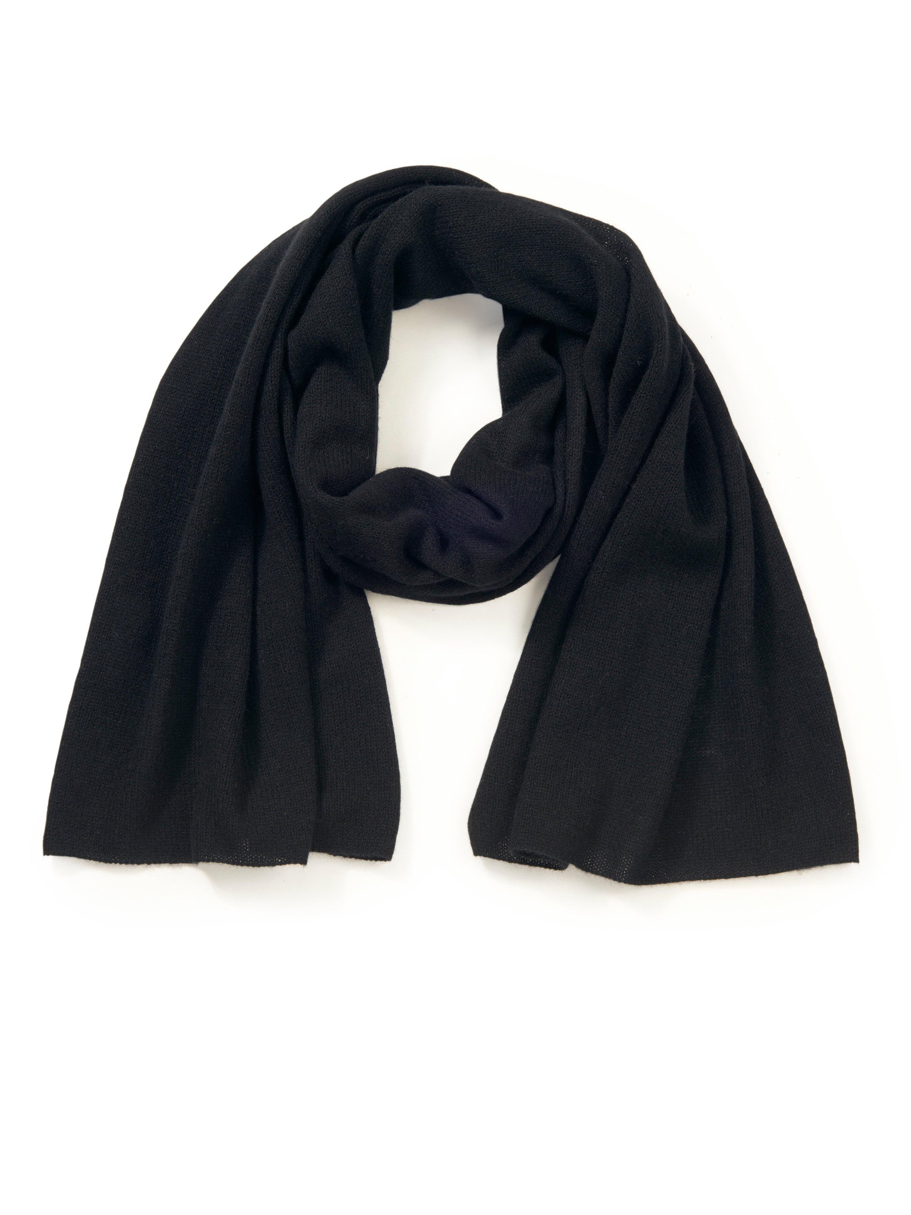 Sjaal 100% kasjmier Van Peter Hahn Cashmere zwart