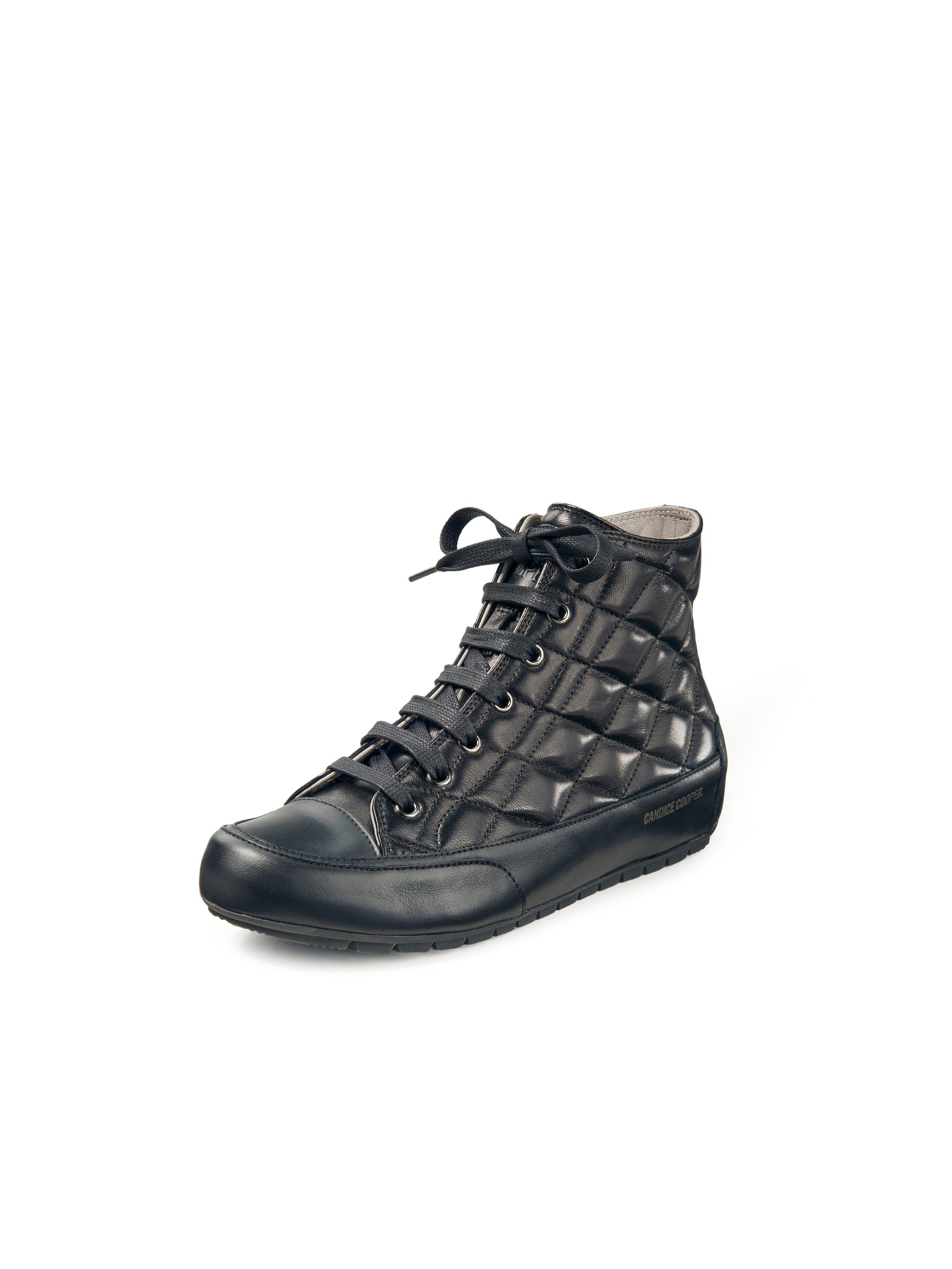Sneakers Plus Bord kalfsnappaleer Van Candice Cooper zwart