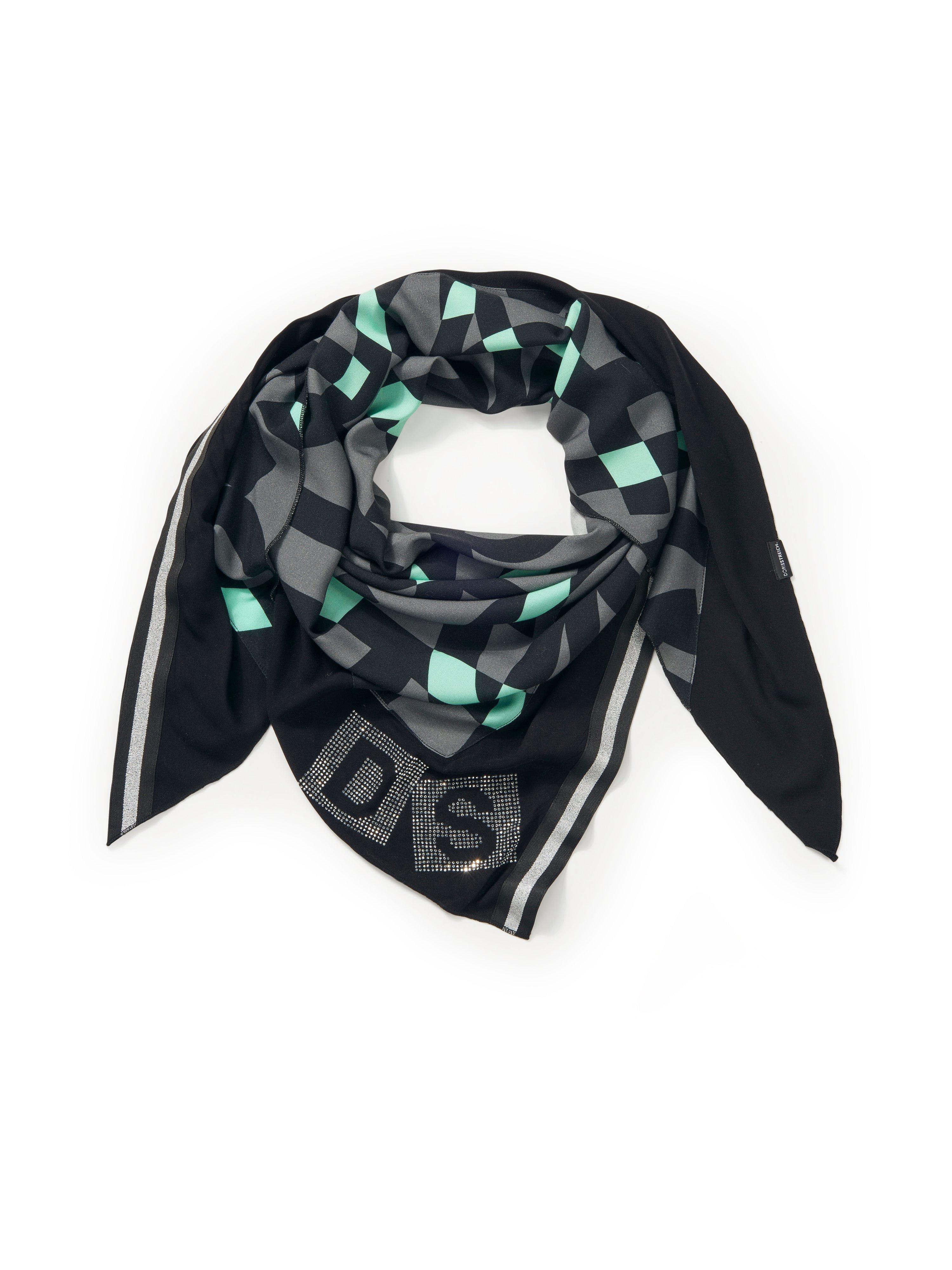 Le foulard triangle batiste  Doris Streich gris