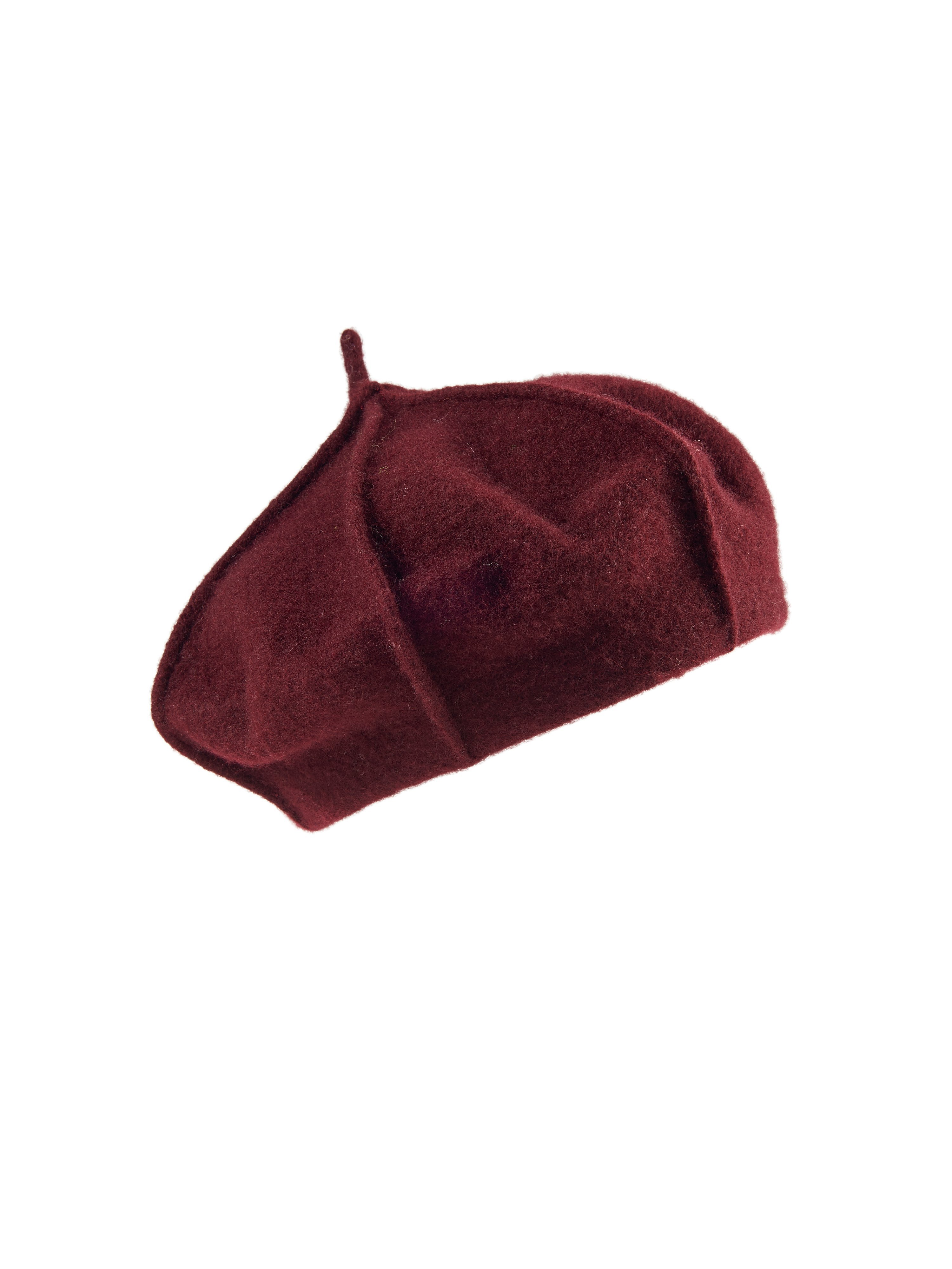 Baret 100% wol Van Peter Hahn rood