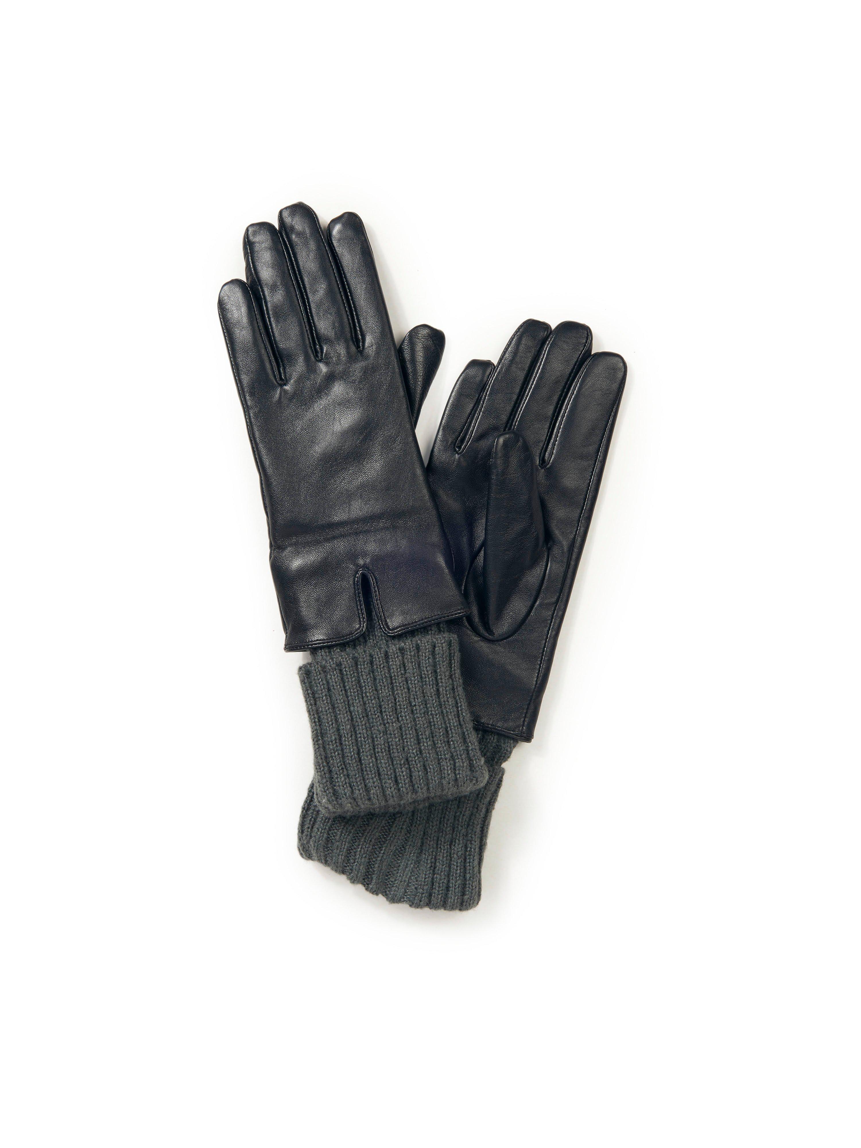 Handschoenen schaapsleer Van Peter Hahn zwart
