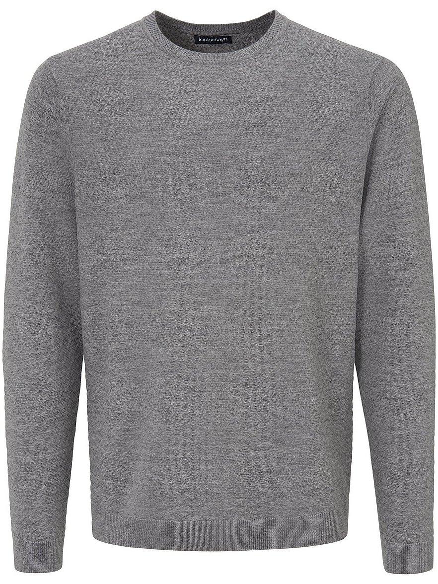 louis sayn - Rundhals-Pullover aus 100% Schurwolle  grau Größe: 50