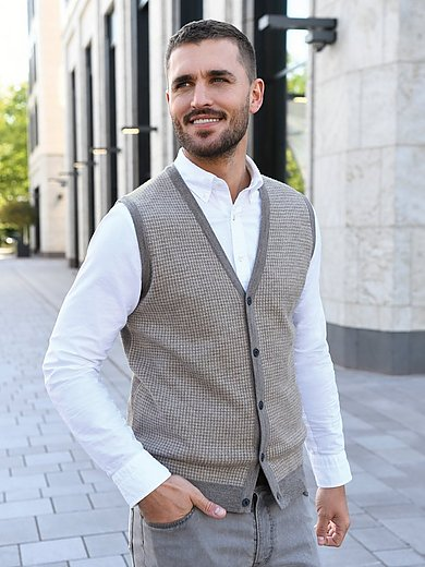 Louis Sayn - Knitted waistcoat made of 100% pure new wool