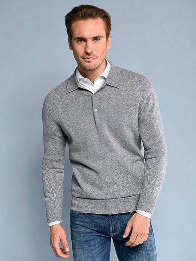 Peter Hahn Cashmere - Polo neck pullover in Pure cashmere in premium qua