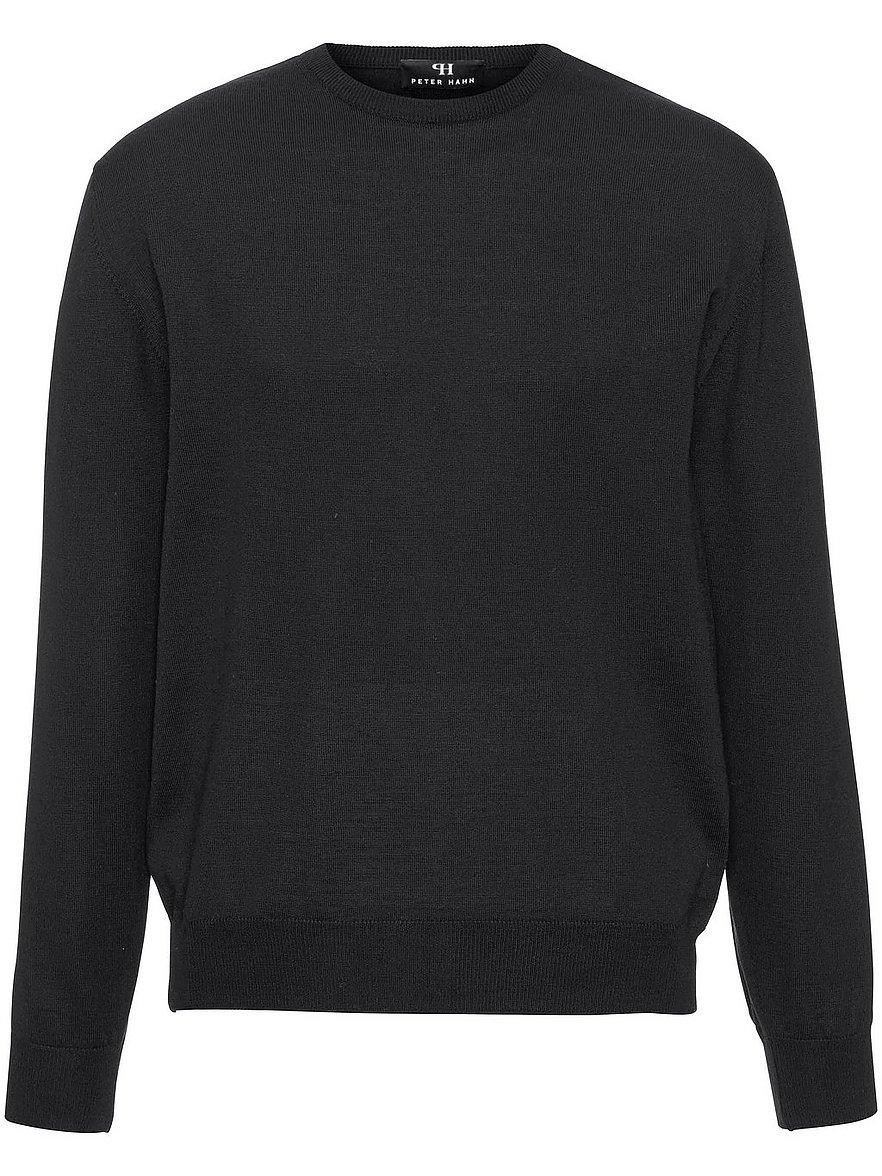 peter hahn - Pullover aus 100% Schurwolle-Merino  schwarz Größe: 48